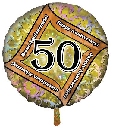 Pallone Foil 50 Anni Buon Anniversario Jolly Toys Addobbi Ed